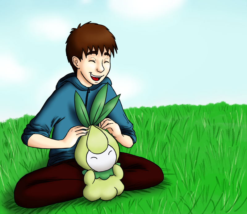 A Boy and His Plant by frecleface