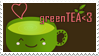 greenTEA stamp by KatiBear