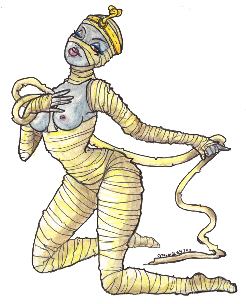 Mummy unveiled by EvilCreampuff