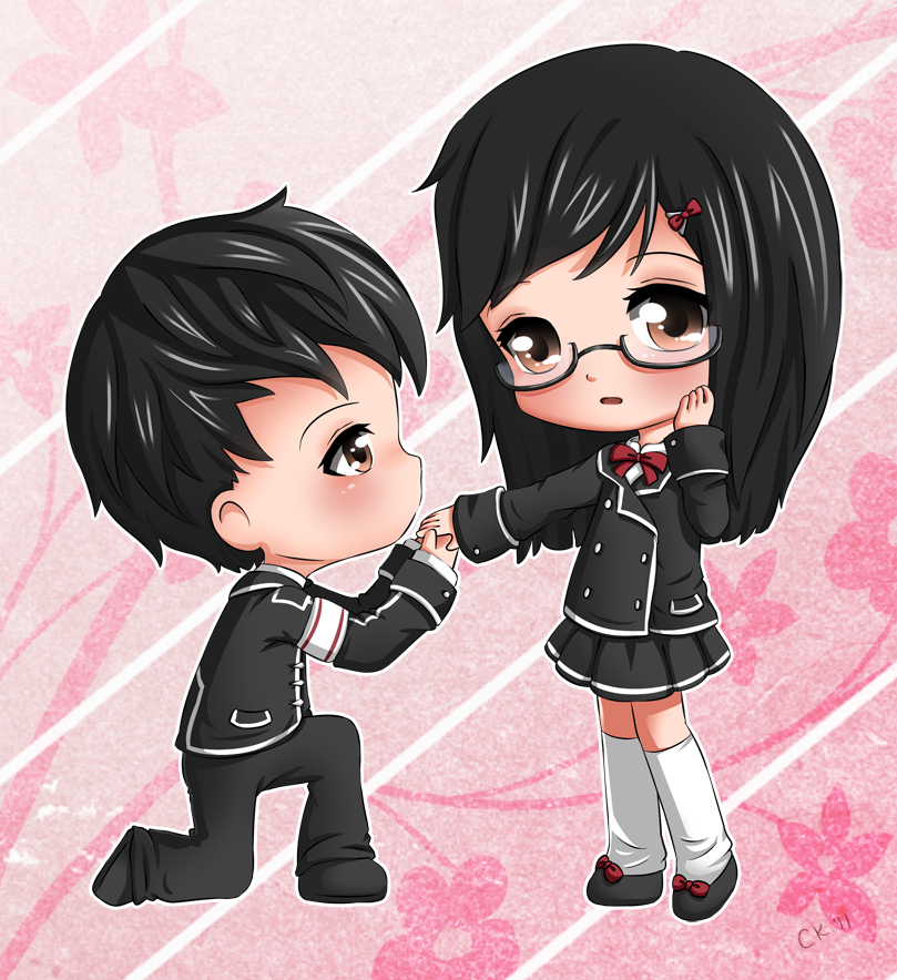 Chibi Couple by Cupkik on DeviantArt