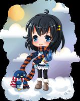 Hoshiyo and Pengii by Cupkik