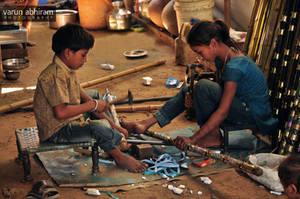 Making Dandiyas II by varunabhiram