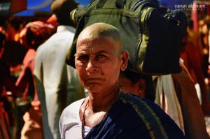 Woman in the Crowd by varunabhiram