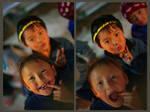 Kids at Chungthang by varunabhiram