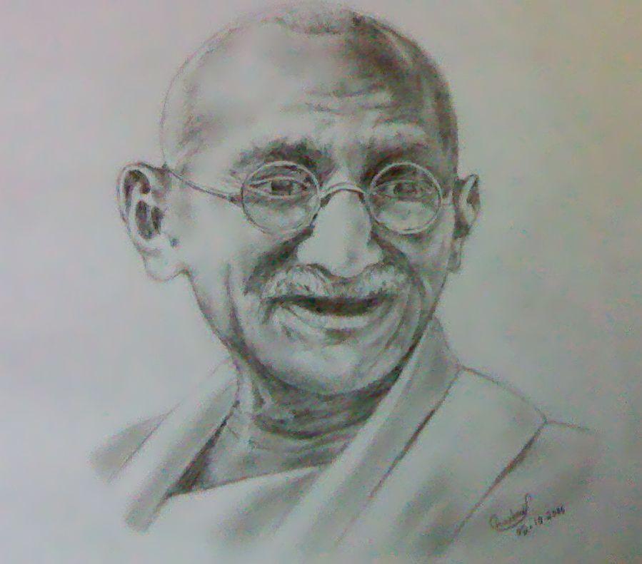gandhi ji by shash-frankenstien