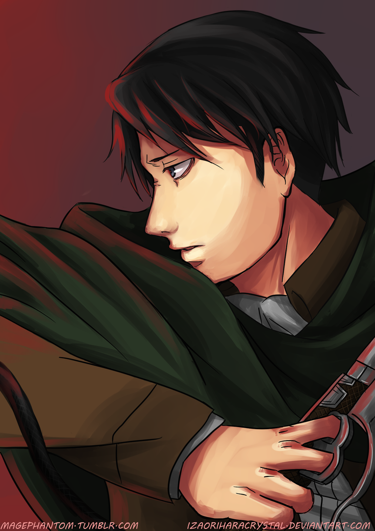 Levi-Chan Looking at Red Stuff by IzaOriharaCrystal