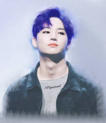 [FanArt] Blue haired Jaebum by MhedyyChan