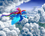 Flight of a Dash and Scootaloo