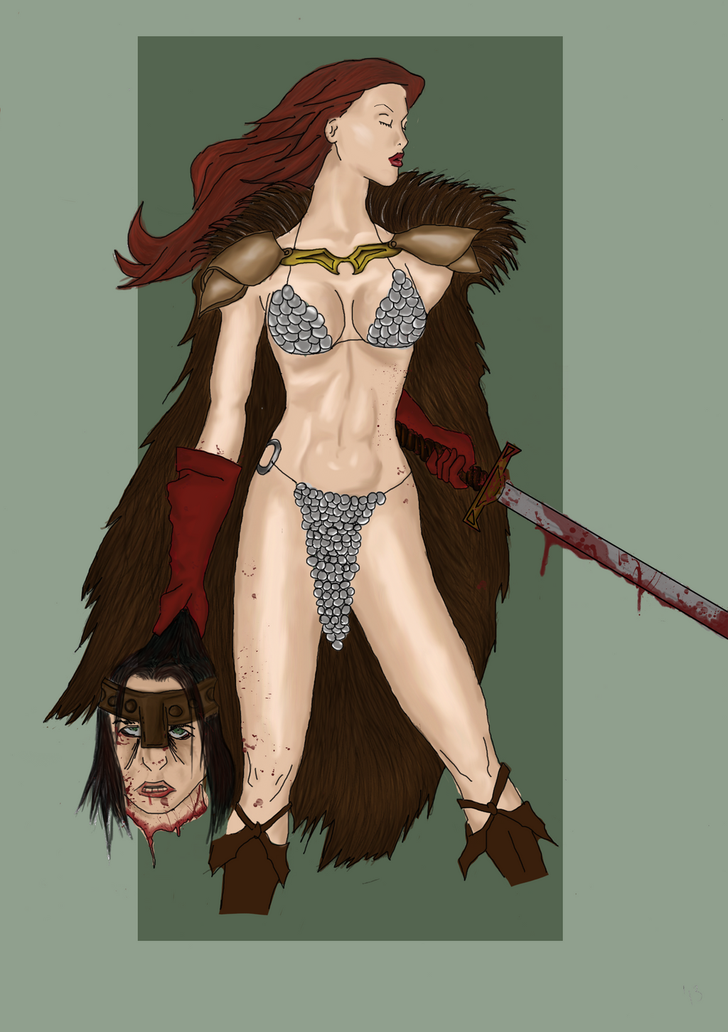 Red Sonja Color by Faithlaloba