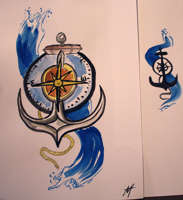 Anchor and Compass by AlanJunior on DeviantArt
