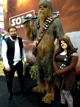 Hairy Han, Chewbacca And Lil' Chewie