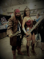Captain Jack Sparrow And Wonder Woman by JUMBOLA