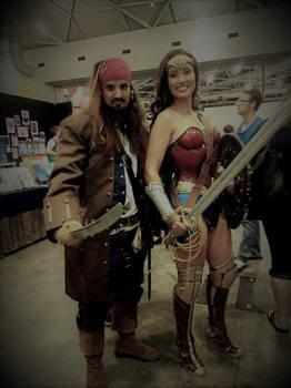 Captain Jack Sparrow And Wonder Woman