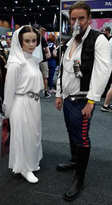 Princess Leia and Han Solo