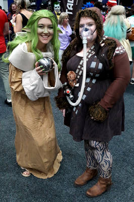 Baby Yoda (Grogu) And Lady Chewie