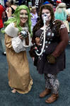 Baby Yoda (Grogu) And Lady Chewie by JUMBOLA