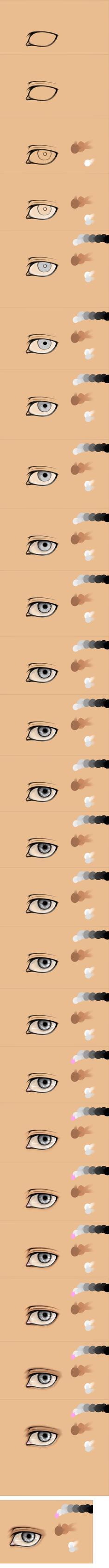 Semi-realistic Eye Process SAI by mjjdcf
