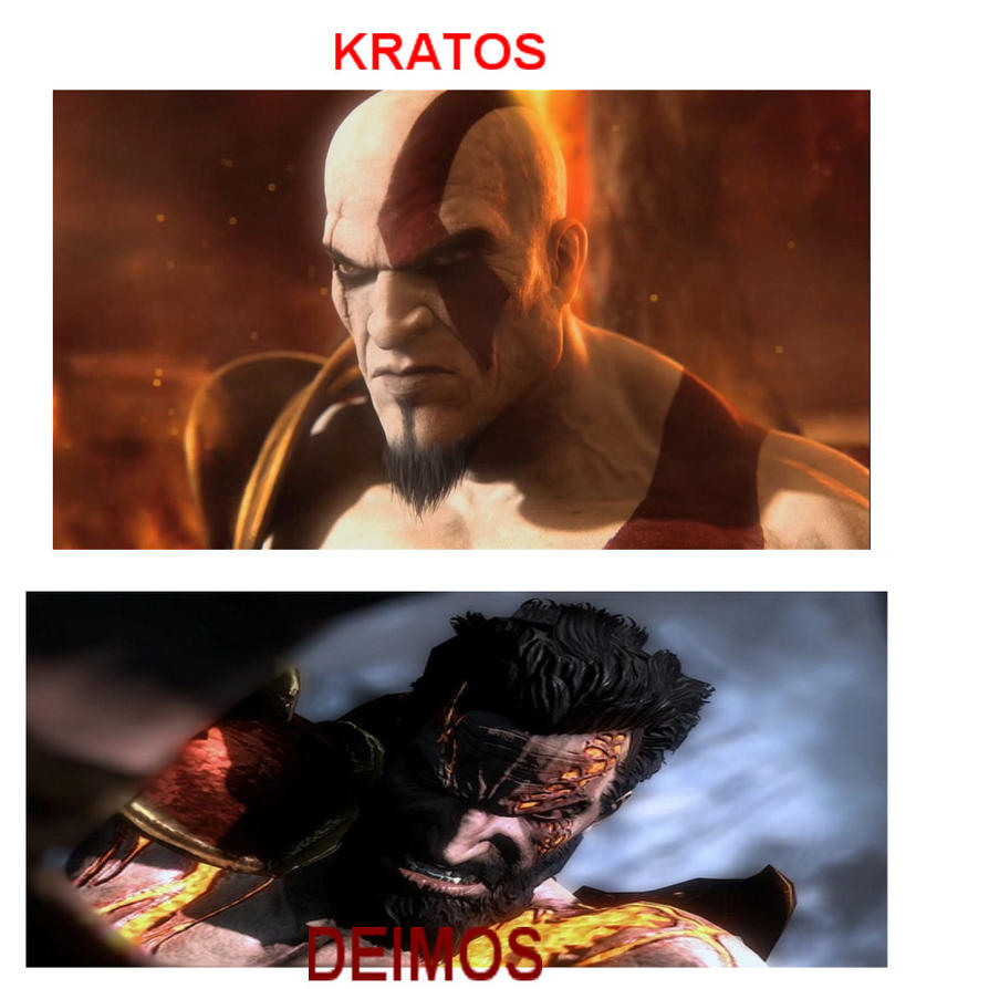 Kratos Brother Deimos Kratos And Deim...