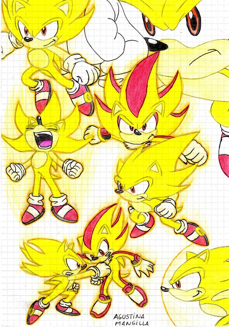 super sonic vs super shadow by guchi22 on DeviantArt