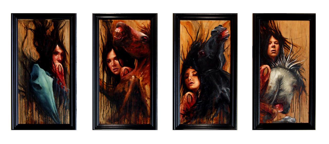 4 Horsemen of the Apocalypse by el-woopo