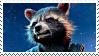 Rocket Racoon Stamp