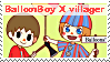 Balloon Boy X Villager Stamp by DIA-TLOA