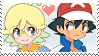 Ash x Clemont01 :Stamp by DIA-TLOA