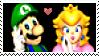 LuigiXPeach :Stamp04: by DIIA-Starlight