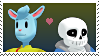Sans X Nice Cream Guy (MMD ver) stamp by DIA-TLOA