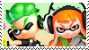 Splatoon: Green X Orange Inkling Stamp by DIIA-Starlight