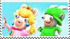 Rabbid Luigi X Rabbid Peach04 Stamp by DIA-TLOA