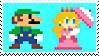 Luigi X Peach 11(SMM) Stamp by DIIA-Starlight