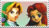 Link X Malon (Ocarina) Stamp by DIIA-Starlight