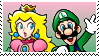 Luigi X Peach 12 Stamp by DIIA-Starlight