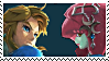 Link x Mipha 2 Stamp by DIA-TLOA