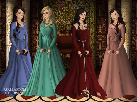 Rene, Chloe, Kaylyn, Lisa-Tudor Princesses