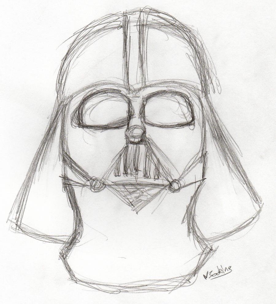 Darth Vader Sketch by vikbok on DeviantArt
