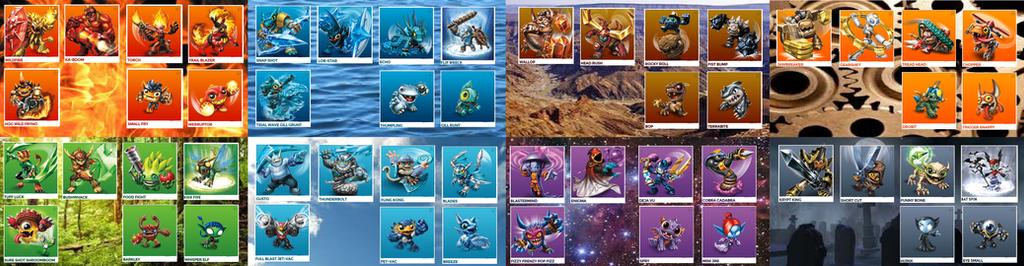 most) All Skylanders Trap Team by FlashwingDragoness on DeviantArt