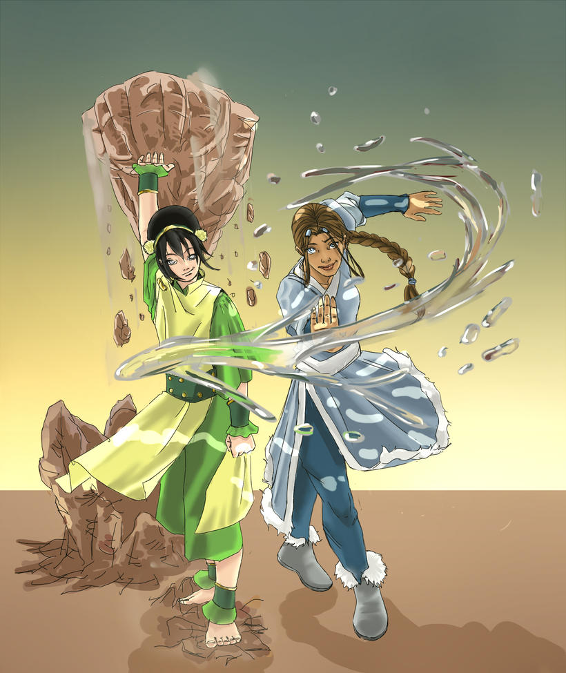 TOPH and KATARA by nopino1