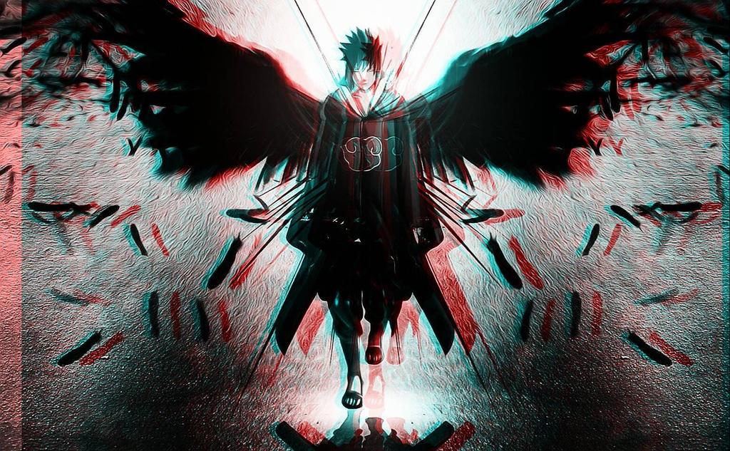 3D sasuke by TheZikura