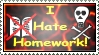 Hate homework - Stamp by DarkFireDK
