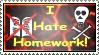 Hate homework - Stamp by DarkFireDK