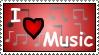 I love music - Stamp by DarkFireDK