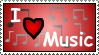 I love music - Stamp by DarkFireDK