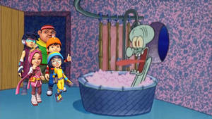 Boboiboy and his friends drop by Squidward's house