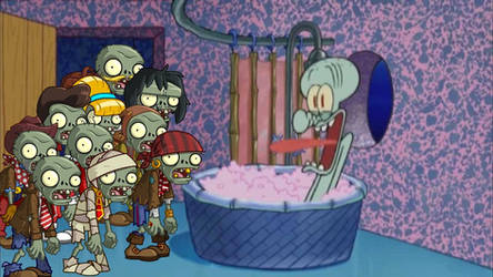 Basic Zombies drop by Squidward's house part 1 by pinkiecute502