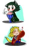 chibi Loki and Thor colored