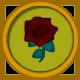 Animal Crossing Black Rose Circular Icon