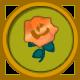 Gold Rose Circular Icon