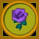 Purple Rose Circular Icon